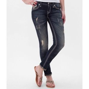[Rock Revival] Drew Cuffed Skinny Distressed Jeans